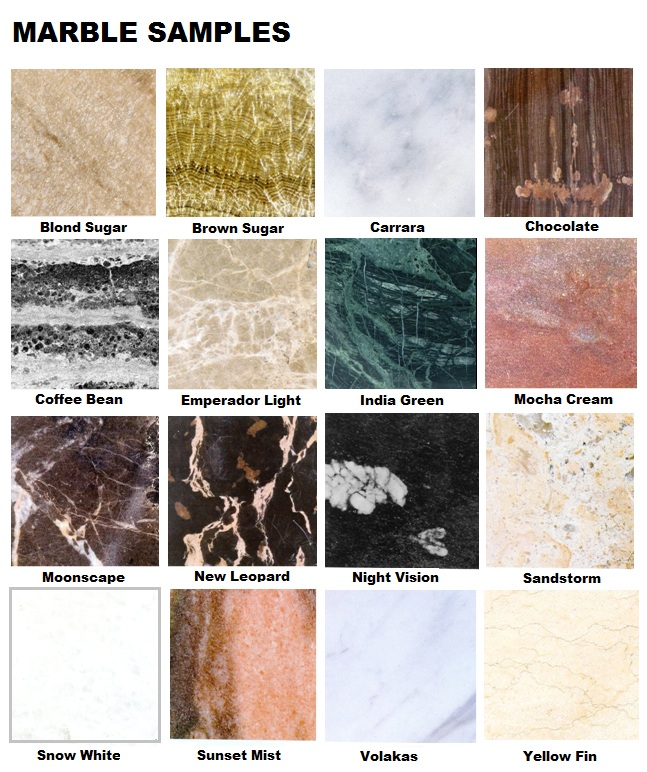 Marble samples