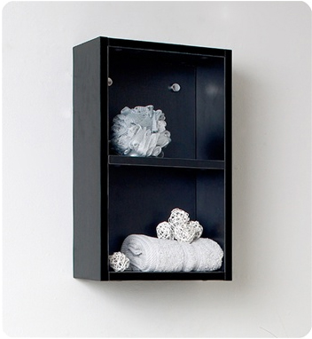 Linen Side Cabinet w/ 2 Open Storage Areas
