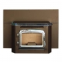 Automatic Glow Boy Fireplace Insert Nickel Door