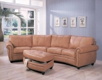 Darasa - Caramel Colored Leather Sofa Set