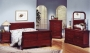 Brylee - Cherry Finished Queen or King Bed Set