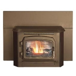 Automatic Glow Boy Fireplace Insert Black Door