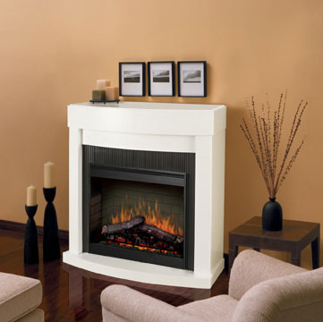 Bianca - White Electric Fireplace