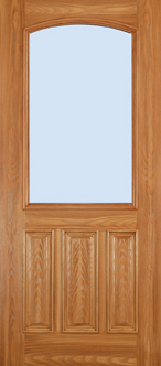 Barrington - Oak 3 Panel, Half Lite Chamber Top