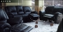 Aspen - Black Leather Match Sofa set