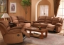 Larry - Microfibre in Buck Skin Color Sofa Set