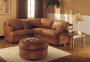Montrose - Brown Wrangler Sectional Microfibre Sofa Set