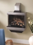 Stainless Steel Wall Mount Fireplace