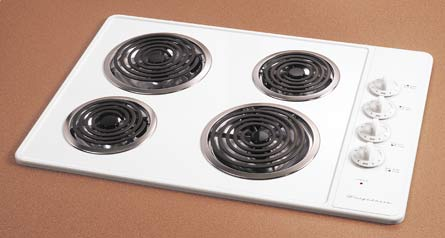 Coil Element Cooktop w/Porcelain Top