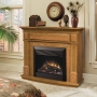Traditional Electric Fireplace in Oak Finish