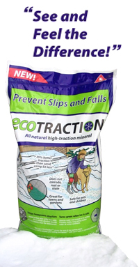 Ecotraction -  Effective traction agent to prevent winter slips