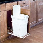 Pull-Out Garbage Bin with Lid