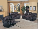 Tina - Dark Chocolate Leather Match Sofa Set