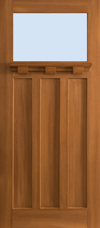 Barrington - Craftsman, Oak 3 Panel, 1 Lite