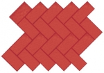 "Un-Textured Herringbone Brick with 1/2"" V-Joint"