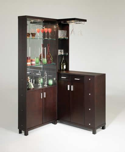 Nino - Espresso L-Shaped Bar Counter
