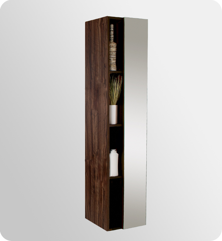Bathroom Storage & Linen Units - Walnut