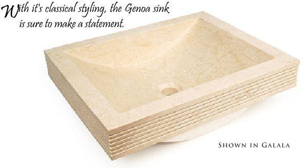 Genoa - Natural Stone Vessel - 20