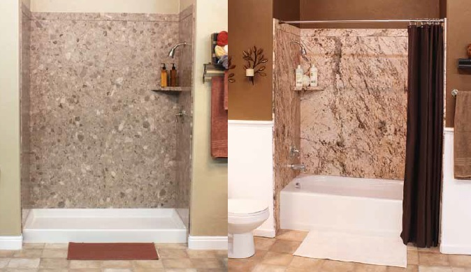 Royale - TUB or Shower SURROUND KIT (60x36x78) 5 Stock Colors