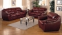 Shelbourne - Brown Colour Leather Sofa Set