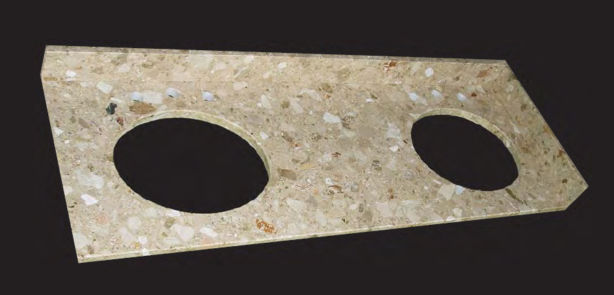 Solid Stone Vanity Tops - Various Colors/Sizes