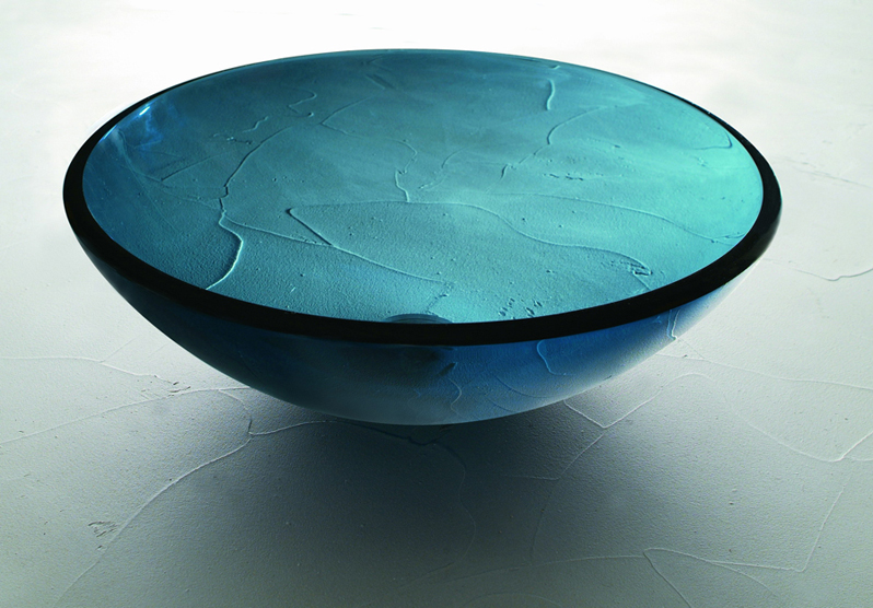 Single Layer Glass - SG-04, Blue, round