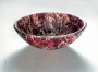 Double Layer Glass Vessel - SG-D07, Maroon Marble