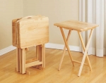 Westvanny - Light Oak Self Storing Tables