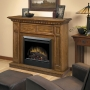 Casual Elegance Electric Fireplace in Oak Finish
