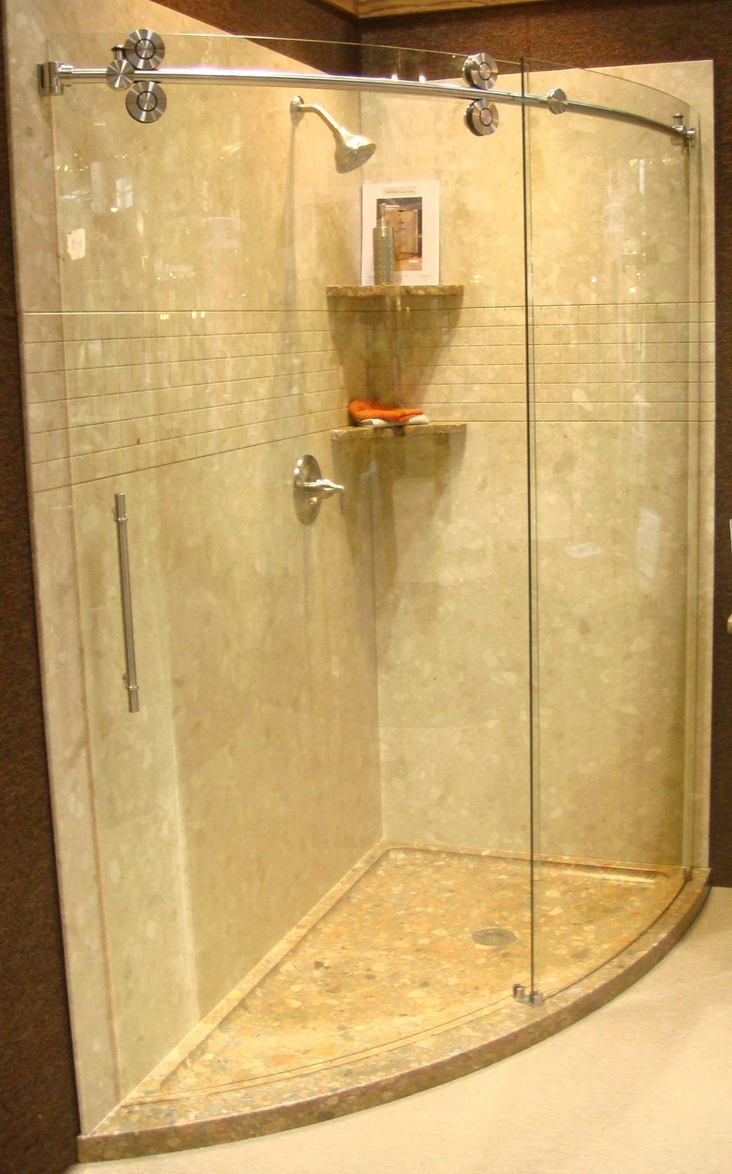 Solid Stone Slice Shower - Various Colors
