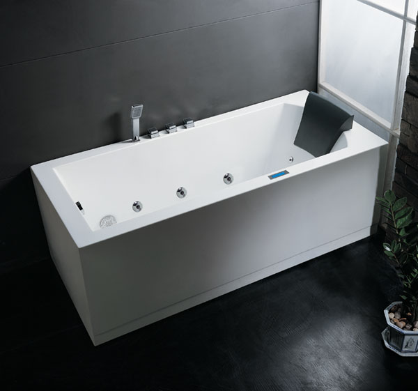 Ariel Platinum - AM154 Whirlpool Bath Tub 59 x 29.5