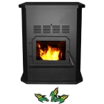 Glow Boy Corn Burning Freestanding Stove Nickel Door