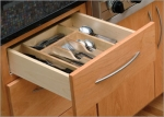 Wood Cutlery Tray - 15\