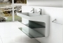 26 or 43 Inch Vanity in Corian and Glass