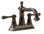 Two Handles Bathroom Faucet - Chrome, Nickel & Bronze