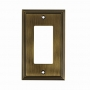 Wallplate - Contemporary Style, Brushed Nickel, Antique English